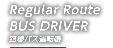 Regular Route BUS DRIVER 路線バス運転職